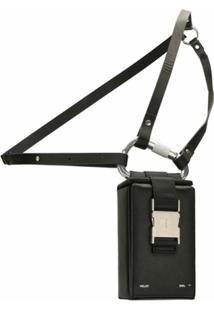 Heliot Emil Buckle Detail Shoulder Bag - Preto