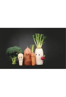 Tapete Transfer Legumes- Preto & Verde Escuro- 90X40Tapetes Junior