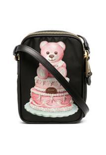 Moschino Bolsa Transversal Com Estampa Teddy Bear - Preto