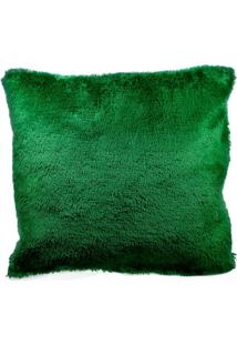 Capa Para Almofada Pelucia Premium Macio C/Ziper Verde - Kanui