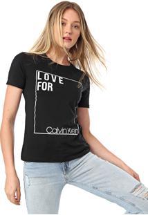 Camiseta Calvin Klein Silk Love Preta