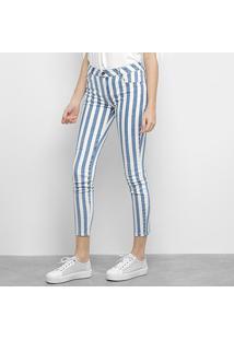 Calça Jeans Ellus Skinny Vintage Stipe Denin Feminina - Feminino