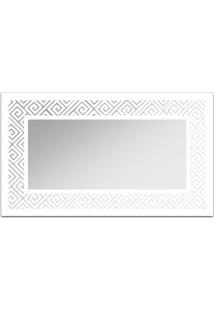 Espelho De Parede 12879B Branco 70X110 Art Shop