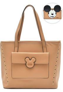 Bolsa Mickey Mouse Bolso Frontal Caramelo