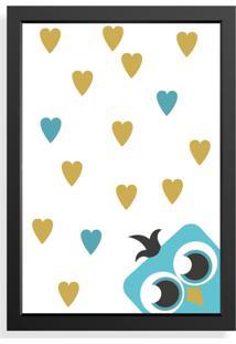 Quadro Love Decor Decorativo Infantil Coruja Love - Preto - Dafiti