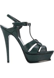 Saint Laurent Sandália 'Tribute 105' - Verde
