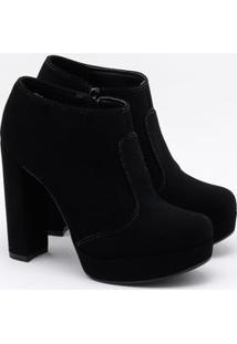Ankle Boot Bebecê Nobuck Preta
