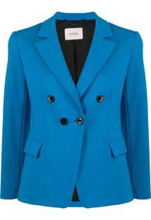 Dorothee Schumacher Emotional Essence Double-Breasted Blazer - Azul