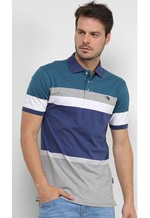 Camisa Polo Gajang Listrada Masculina - Masculino-Azul