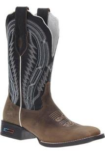 Bota Couro Country Smith Brothers Masculina - Masculino-Marrom