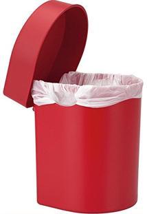Lixeira De Pia Hide Ou 3,5L Vermelha
