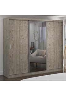 Guarda-Roupa Casal 3 Portas Com 1 Espelho 100% Mdf 7318E1 Demolição - Foscarini