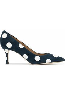 Tory Burch Sapato Penelope Com Salto 65Mm - Azul