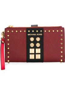 Michael Michael Kors Carteira Adele Com Tachas - Vermelho
