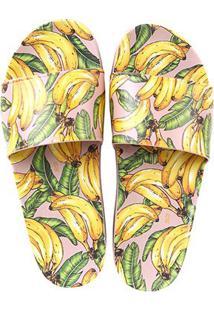 Chinelo Santa Lolla Slide Bananas Feminino - Feminino-Rosa Claro