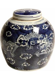 Vaso Decorativo De Porcelana Com Tampa Rice