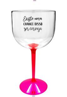 2 Taças Gin Transparente Com Base Rosa Personalizada Para Live