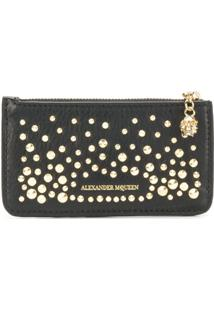 Alexander Mcqueen Carteira 'Zippered Card Holder' - Preto