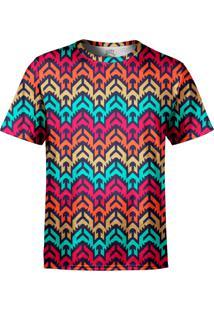Camiseta Estampada Over Fame Vetor Tribal Multicolorido