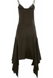 Jw Anderson Slip Dress De Cetim - Preto
