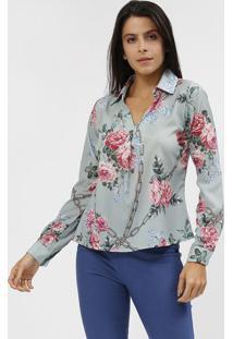 Blusa Floral - Verde & Rosa - Estilo Hestilo H