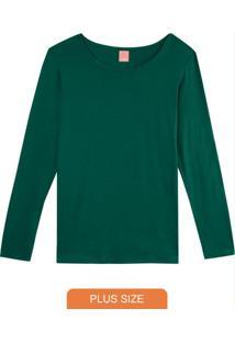 Blusa Verde Em Viscose Stretch