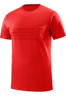 Camiseta Eared Ss Vermelha Masculina M - Salomon