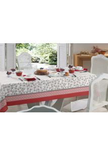 Toalha De Mesa Para Chá Karsten Quadrada Dia A Dia Orientali Branco 78 X 78