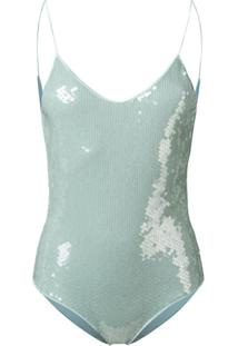 Oseree Sequin One Piece Swimsuit - Verde