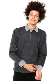 Camisa Polo Volcom Solid Azul Marinho