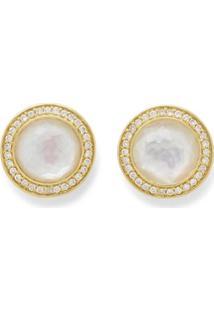 Ippolita Par De Brincos De Ouro 18K Com Diamante - Dourado