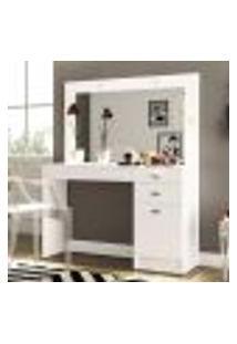 Penteadeira Camarim Joinville Com Espelho 3 Gavetas E 1 Porta - Branco