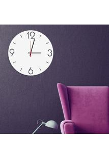 Relógio De Parede Decorativo Premium Números Vazados Branco Médio