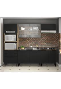 Cozinha Compacta Itamaxi 8 Pt 3 Gv Preta E Castanho
