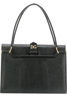 Dolce & Gabbana Bolsa Tote Ingrid Com Efeito De Croco - Preto