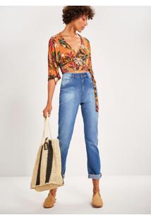 Calça Jeans Reta Cintura Alta Sertão Jeans