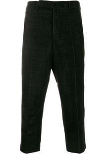 Rick Owens Slim Cropped Trousers - Preto