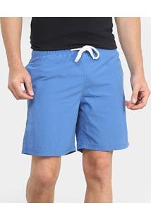 Shorts Gajang Liso Masculino - Masculino-Azul