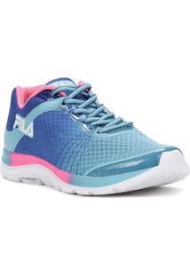 Tênis Esportivo Feminino Fila Azul/Rosa - Feminino-Azul+Rosa