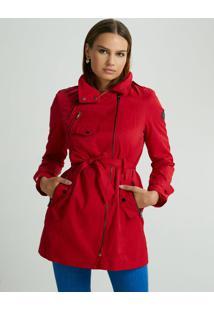 Casaco Nexy Trench Coat Vermelha