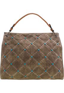 Bolsa Feminina Arara Dourada - Lt8146 Taupe