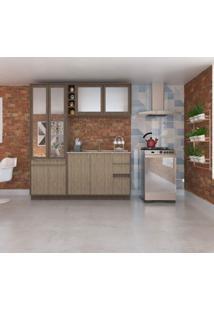 Cozinha Modulada Compacta 3 Peças New Siena Móveis Cedro/Wood