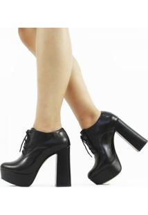 Ankle Boot Lizy Napa Feminino - Feminino-Preto