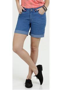 Bermuda Feminina Jeans Stretch Cintura Baixa Marisa
