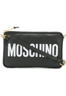 Moschino Bolsa Transversal Com Logo - Preto
