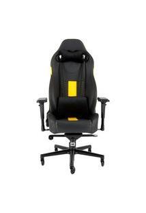 Cadeira Gamer Corsair T2 Road Warrior, Preto/Amarelo - Cf-9010010