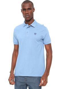 Camisa Polo Mr Kitsch Logo Azul