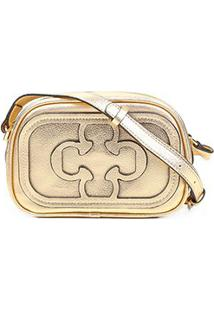 Bolsa Capodarte Mini Bag Logo Relevo Feminina - Feminino-Dourado