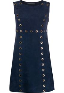 Alberta Ferretti Sleeveless Flared Mini Dress - Azul