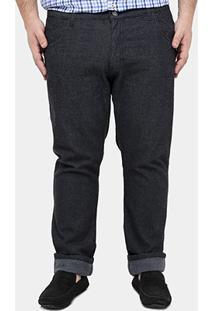 Calça Preston Black Plus Size - Masculino-Grafite